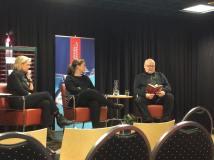 Morten Borgersen og Linn Rottem bokbades under Litteraturfestivalen i Vestfold 2015